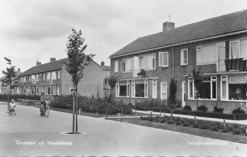 Leeghwaterstraat N 0030+ 1959 Kruising Ewijkstraat