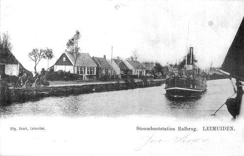 Leimuiderdijk 0370+ 1905 bij Rolbrug Leimuiden