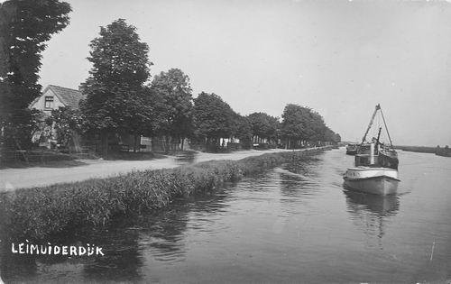 Leimuiderdijk 0381- 1931 Zicht vanaf Brug naar N