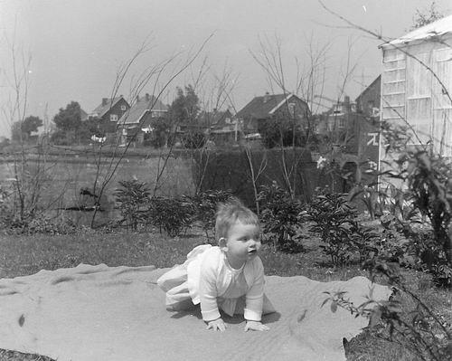 Lijnderdijk 0268-259 1960 Achterzijde vanaf Tuin fam v Es