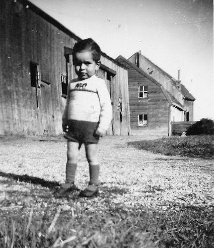 Lijnderdijk 0277 1948 Achterkant met oude Kolenschuur