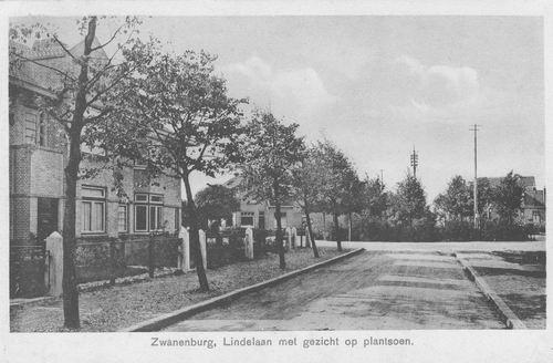 Lindenlaan O 0056-58 1931 met Plantsoen Kastanjeplein