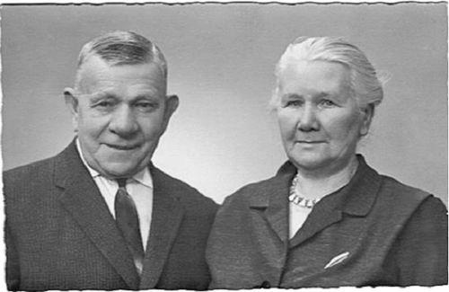 Luit Gerrit van der 19__ Portret met vrouw Maria Hester van Es