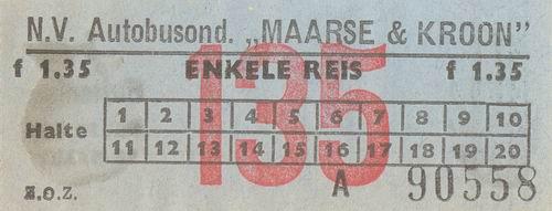 Maarse en Kroon 1982 Buskaartjes 01