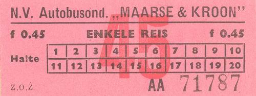 Maarse en Kroon 1982 Buskaartjes 02