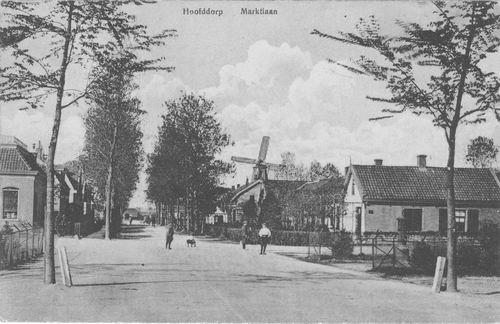 Marktlaan 1915 zicht vanaf Marktplein