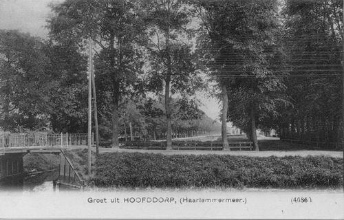 Marktplein C 1908 Kruistocht en bomen