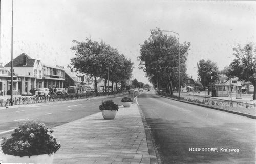 Marktplein C 1967 zicht vanaf vluchtheuvel