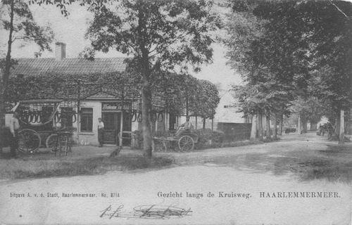 Marktplein N 0015 1912 Krabbendam met zicht in Draverslaan