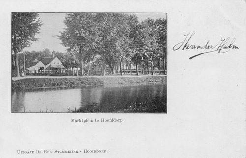 Marktplein N 0031 1903 Marktzicht vanaf Hoofdweg Westzijde