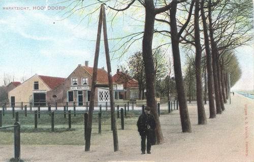 Marktplein N 0031 1907 Marktzicht ingekleurd