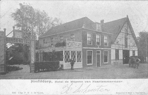 Marktplein N 0043 1901 Wapens v Haarlemmermeer
