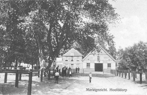 Marktplein N 0043 1910 Wapens v Hmeer en Marktplaats