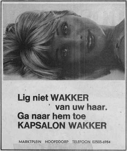 Marktplein Z 0054 198_ Kapper Wakker Diverse Advertenties 04