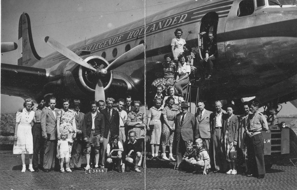 Meijer Aga 1931 1949 met Zusters naar Schiphol