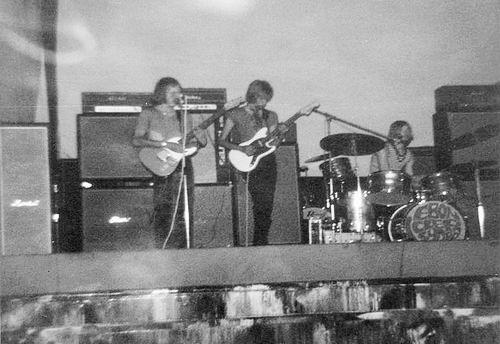 Muziekband Ebon Clepsydra 1970 Optreden in de Waterwolf 01