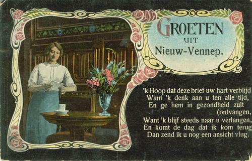 Nieuw Vennep 1916 Groeten uit