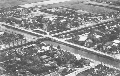 Nieuw Vennep 1957 Luchtfoto Centrum