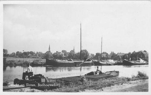 Nieuwemeerdijk 004_ Overzijde 1950 Zicht naar Sloten