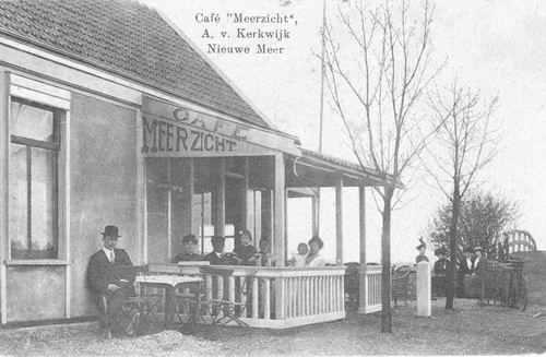 Nieuwemeerdijk 0326 Overzijde 1915 Cafe Meerzicht aan Jaagpad