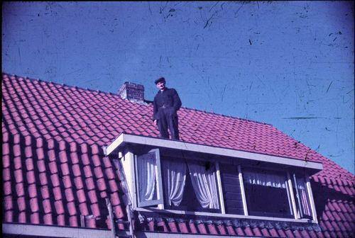 Wamsteeker Nicolaas Willem 1900 1949-50 Loodgieter op Dak Marktplein