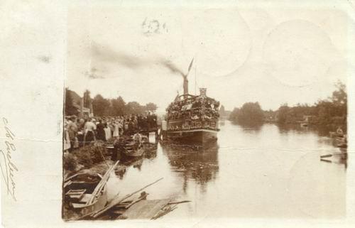 <b>ZOEKPLAATJE:</b>Aalsmeerderdijk 0361 1928 Cafe Bloemink met Stoomboot
