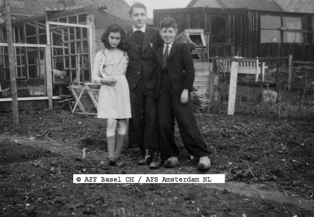 Onbekend Anne Frank 1940 aan Akerdijk 145 bij fam Hofer