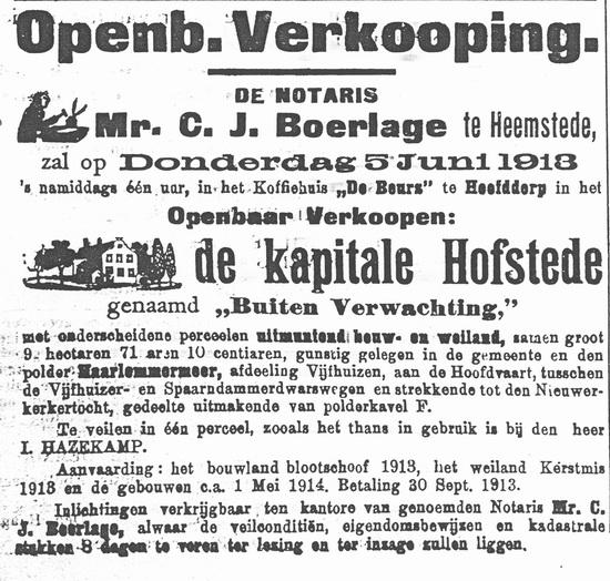 <b>ZOEKPLAATJE:</b>Onbekend Boerderij van Haazenkamp 1913 02
