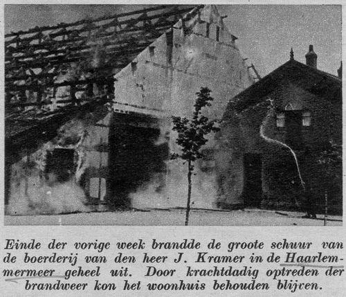 Sloterweg W 0555 1939 Brand Boerderij J Kramer mz Kamer