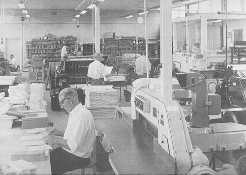 <b>ZOEKPLAATJE:</b>&nbsp;Onbekend Drukkerij Interieur 1973