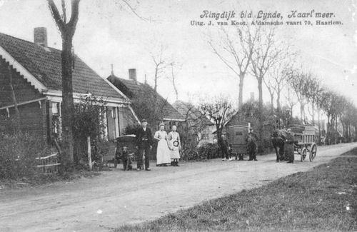 <b>ZOEKPLAATJE:</b>Onbekend Lijnden Ringdijk 1909