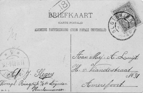 <b>ZOEKPLAATJE:</b>Onbekend Lijnden Ringdijk 1909a