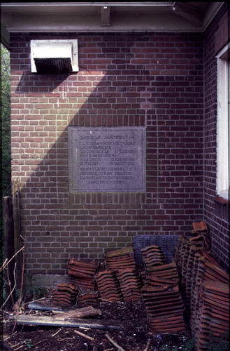 <b>ZOEKPLAATJE:</b>&nbsp;Onbekend Amstelveen 1917 1e Steen gemaal Nieuwe Meer door Steenvoorden