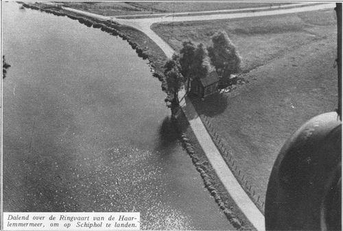 Schipholdijk 00000 Overzijde 1934 Luchtfoto bij Fort