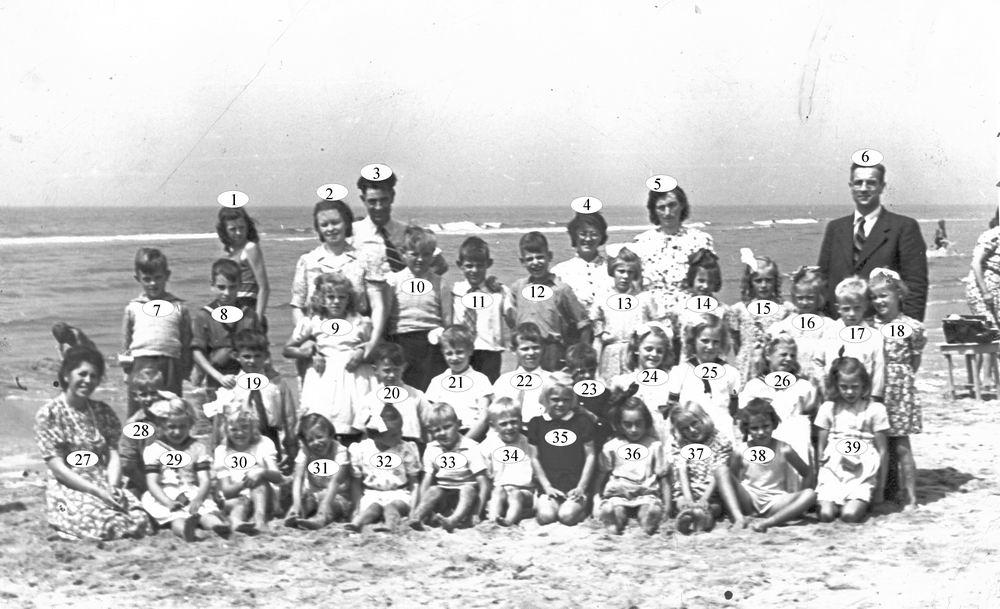 Openbare School 02 1946 Schoolreisje naar Strand 02_Index