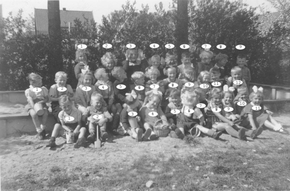 Openbare School 02 1951 bij de Zandbak 01 Index
