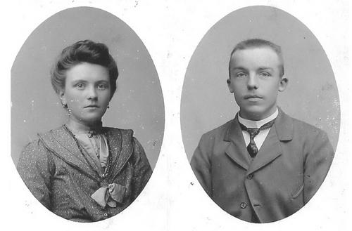 Pannekoek Jacob 1881 19__ Portret met vrouw Aagtje Vreeken