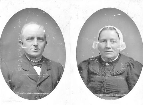Pannekoek Jacobus 1852 19__ Portret met vrouw Trijntje Eveleens