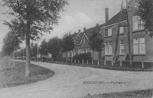 Parklaan 1925 bij hoek Nieuwe Weg