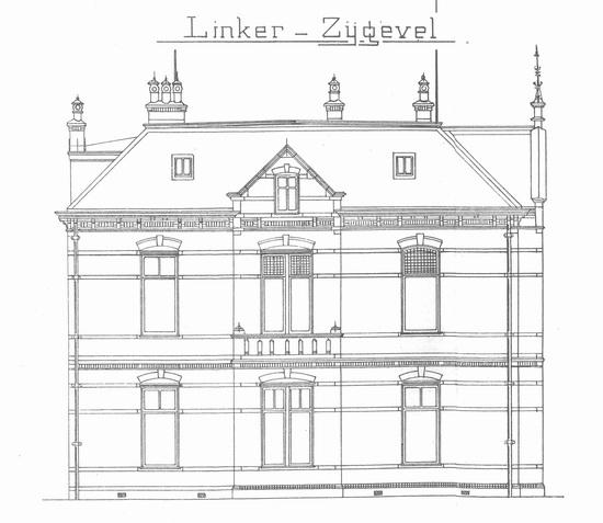 Raadhuislaan 0002 1911 bouwschets Kantongerecht 02 Links
