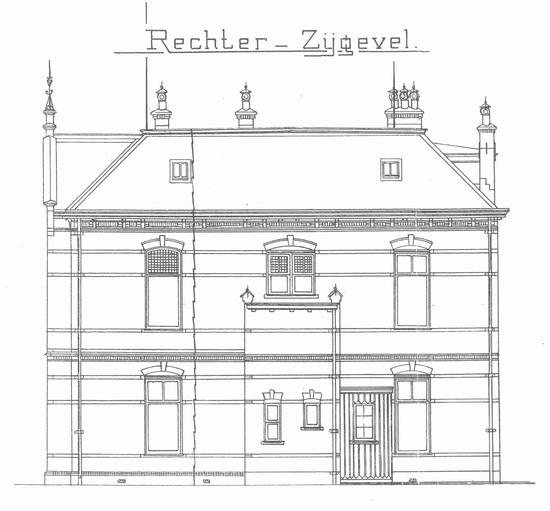 Raadhuislaan 0002 1911 bouwschets Kantongerecht 04 rechts
