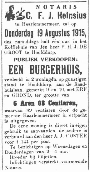 Raadhuislaan 0009-10 1915 te Koop
