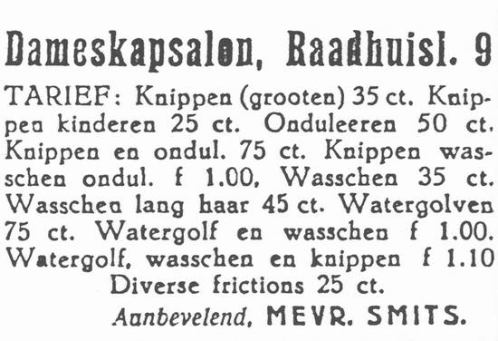 Raadhuislaan 0009 193605 dameskapsalon Smits