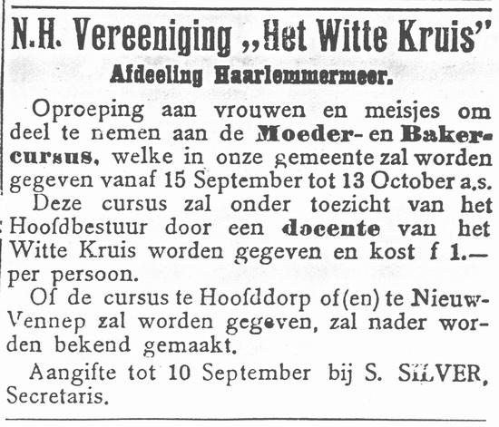 Raadhuislaan 0014 Silver Simon 1919 Secretaris Witte Kruis