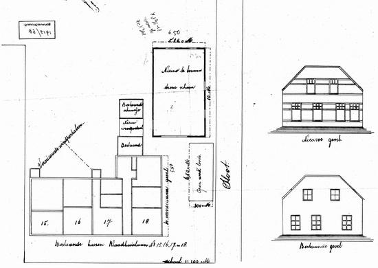Raadhuislaan 0018 1915 Verbouwing Tekening