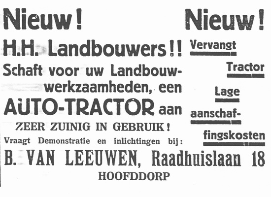 Raadhuislaan 0018 1936 B v Leeuwen Tractoren