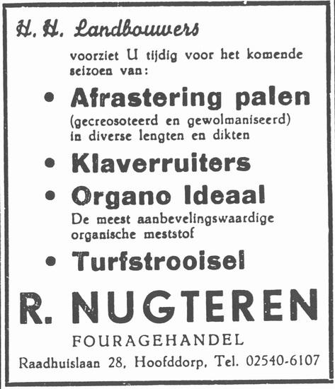 Raadhuislaan 0028 1959 Fouragehandel R Nugteren