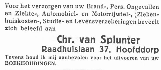 Raadhuislaan 0037 1937 Verzekeringen Vhr v Splunter