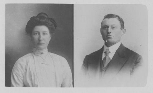 Resoort Arie 1910± Pasfoto met vrouw Maria Balk_2