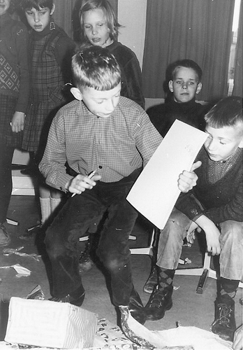 Rijk Bert de 196_ Sinterklaas bij School met Bijbel Nieuw-Vennep